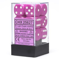 Chessex: D6 Opaque Cube Set (16mm) - Pink/White