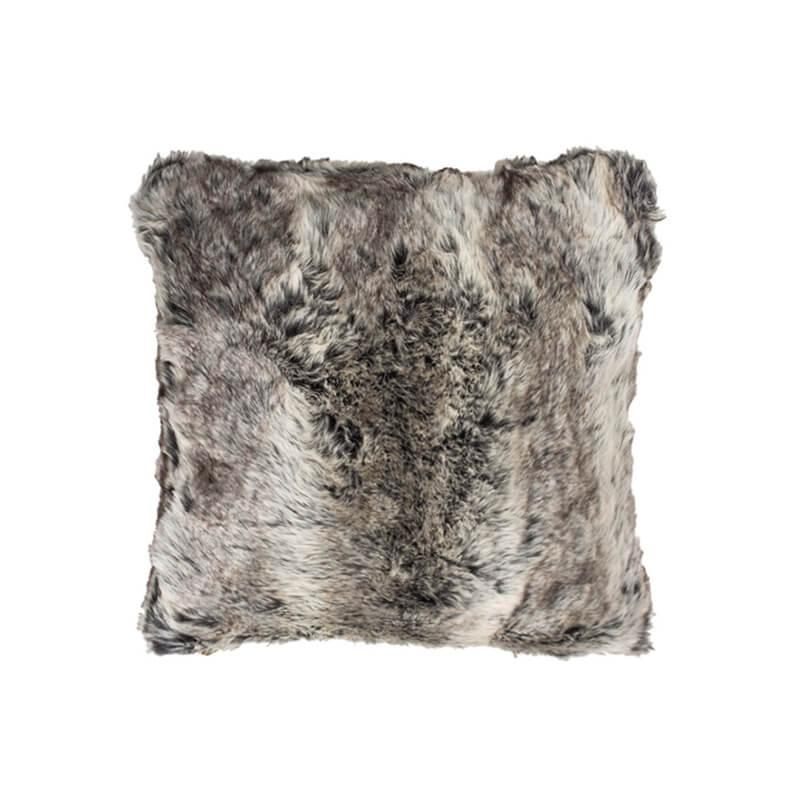 Bambury Faux Fur Cushion (Chinchilla) image