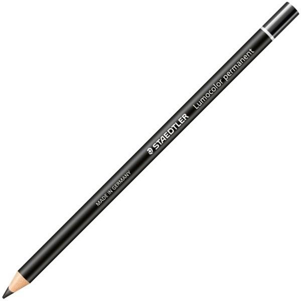 Staedtler: Lumocolor Permanent Glasochrom Pencil - Black