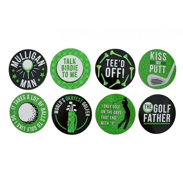 Annabel Trends Cork Backed Coaster - Golf (Set of 8)