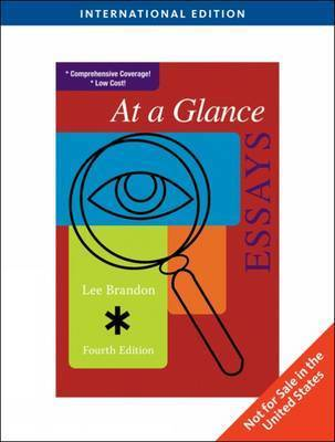At a Glance: Essays by Lee E. Brandon