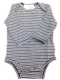 Babu Merino Bodysuit - Navy Stripe (0-3 Months) image
