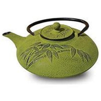 Green Pandanus Tree Cast Iron Teapot (600ml)