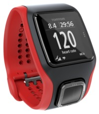 TomTom Runner Cardio Watch - Black/Red