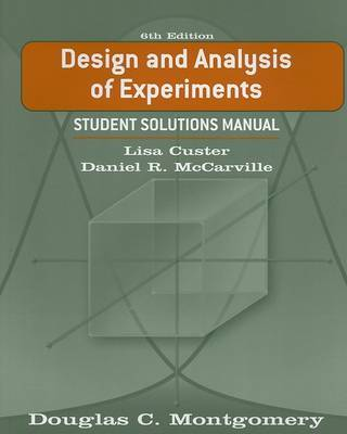 Design and Analysis of Experiments: Student Solutions Manual by Douglas C. Montgomery image