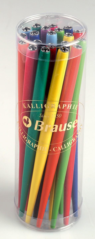 Brause: Plain Coloured Nib Holder - Assorted Colours image
