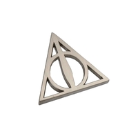Harry Potter: Deathly Hallows Keyring And Pin Badge Set