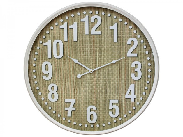 LaVida: Clock - Bamboo White Framed (60cm)