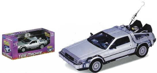 Back To The Future 1:24 Scale Die-Cast DeLorean Car Replica
