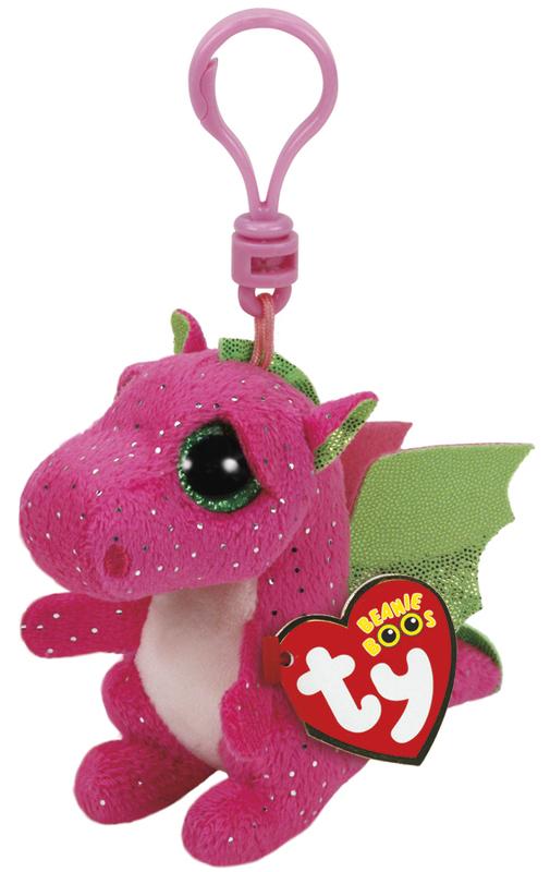 Ty Beanie Boos: Darla Dragon - Clip On Plush