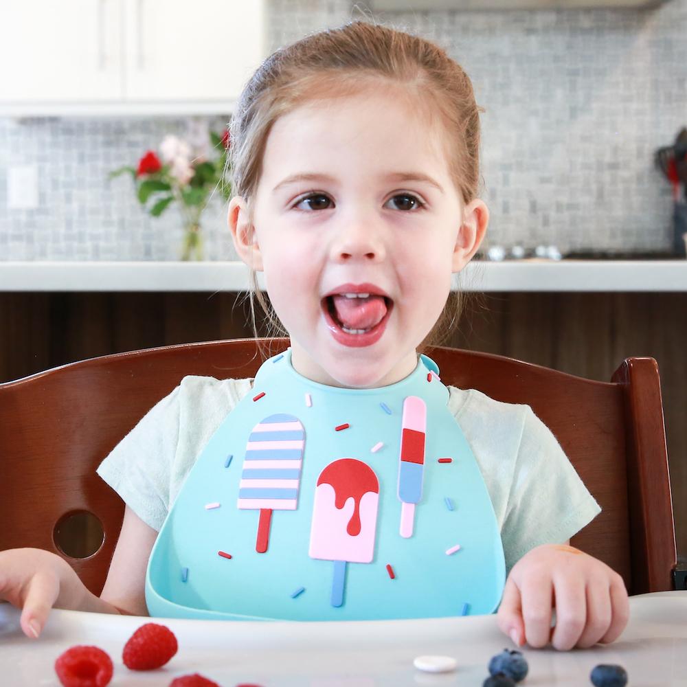 Make My Day: Silicon Baby Bib - Ice Creams Aqua image
