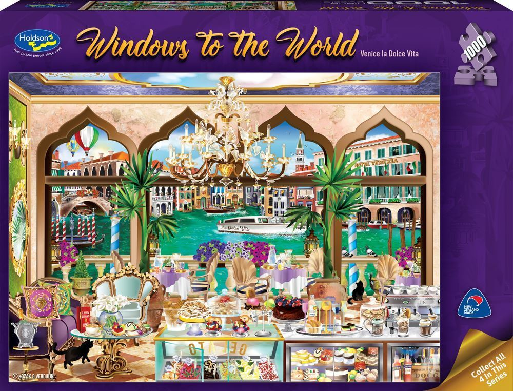 Holdson: 1,000 Piece Puzzle - Windows of the World (Venice La Dolce) image
