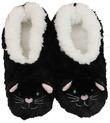 Slumbies Cat Furry Foot Pals Slippers (S)