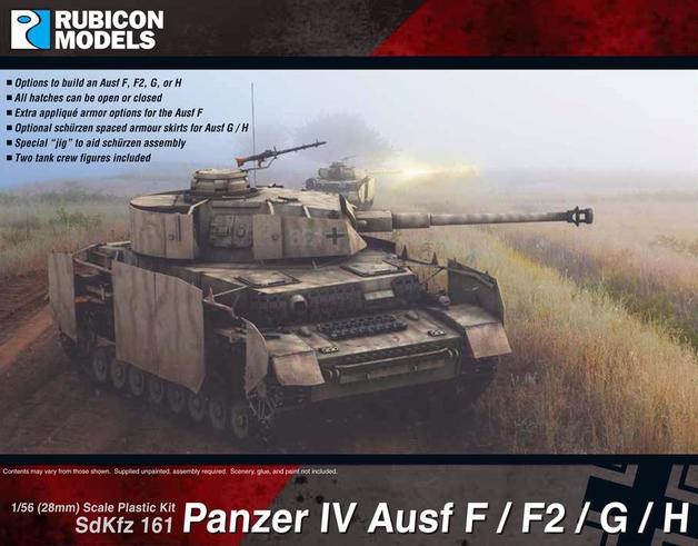 Rubicon 1/56 Panzer IV Ausf F/F2/G/H