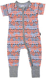 Bonds Zip Wondersuit Short Sleeves - Batik Baby (12-18 Months)