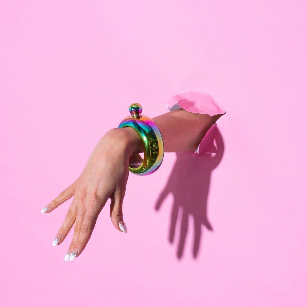 Blush: Charade: Bracelet Flask - Rainbow image