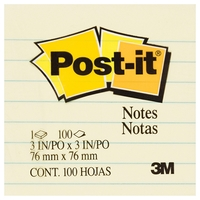 Post-it Notes 630-SS Lined - Yellow