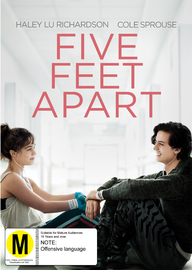 Five Feet Apart on DVD image