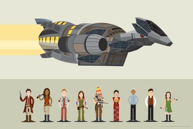 Firefly Crew by Scott Park - Lithograph Art Print