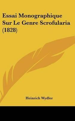 Essai Monographique Sur Le Genre Scrofularia (1828) by Heinrich Wydler image