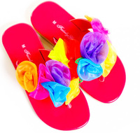 Fairy Girls - Heavenly Jandals in Hot Pink (Large, age 5-7)