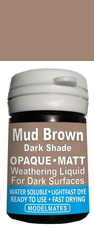 Modelmates: Opaque Weathering Liquid - Dark Mud