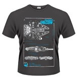 Star Wars: The Force Awakens Millenium Falcon T-Shirt (XX-Large)