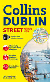 Collins Dublin Streetfinder Colour Map by Collins Maps