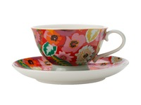 Maxwell & Williams: Teas & C's Glastonbury Footed Cup & Saucer - Poppy Red (200ml)