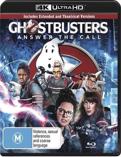 Ghostbusters (2016) on Blu-ray, UHD Blu-ray