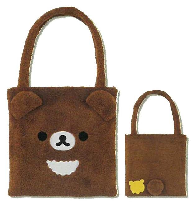 Ko Rirakkuma: Face Printed Bag (Brown)