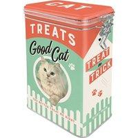 Nostalgic Art Clip Top Box - Cat Treats Good Cat
