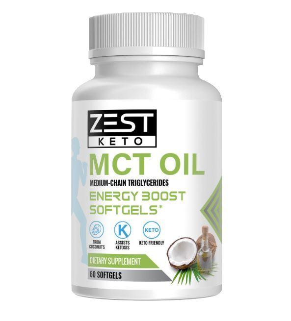 ZestKeto MCT Oil Energy Boost Softgels (60 Soft Gels)