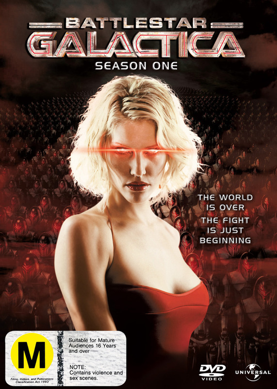 Battlestar Galactica 2004 - Season 1 (4 Disc Slimline Set) on DVD