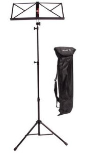 Stagg 3 Section Folding Music Stand (Black)