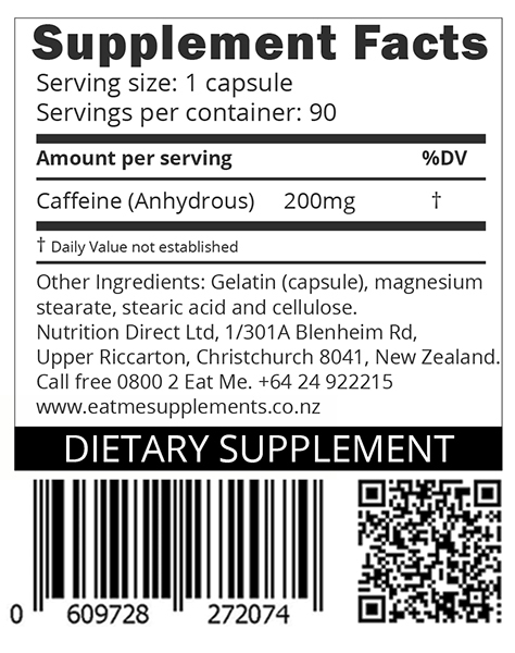 Eat Me Thermo Caffeine 90 Capsules 200mg image