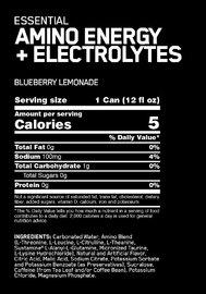Optimum Nutrition Amino Energy Sparkling RTD - Blue Lemonade (12x355ml)