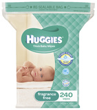 Huggies Unscented Wipes - Jumbo Pack (240)