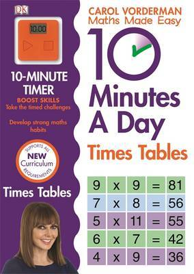 10 Minutes A Day Times Tables by Carol Vorderman