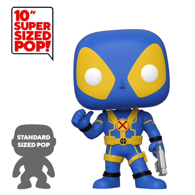 "Deadpool: Thumbs Up (Blue) - 10"" Super Sized Pop! Vinyl Figure"