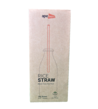 100 Pack Biodegradable Rice Straws image