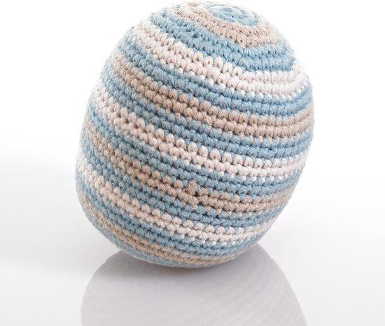 Pebble: Organic Cotton Rattle Ball - Duck Egg Blue