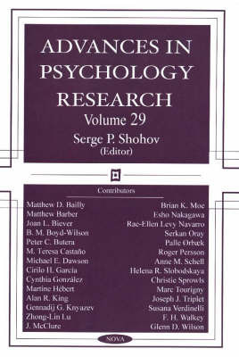 Advances in Psychology Research: Volume 29
