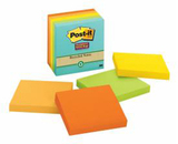 Post-it Super Sticky 30% Recycled 76mm x 76mm - 90shts/pad (Pkt 5)