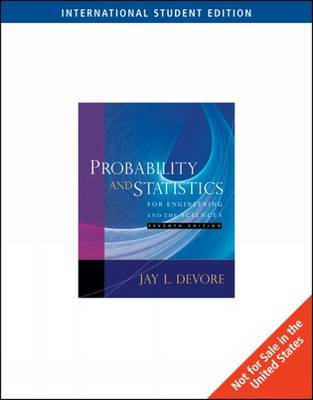 Probability and Statistics for Engineering and the Sciences by Jay L DeVore image