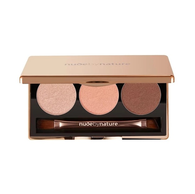Nude By Nature: Eyeshadow Trio - #03 Rose