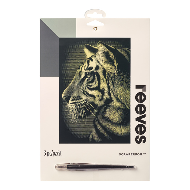 Reeves: Gold Scraperfoil - Tiger