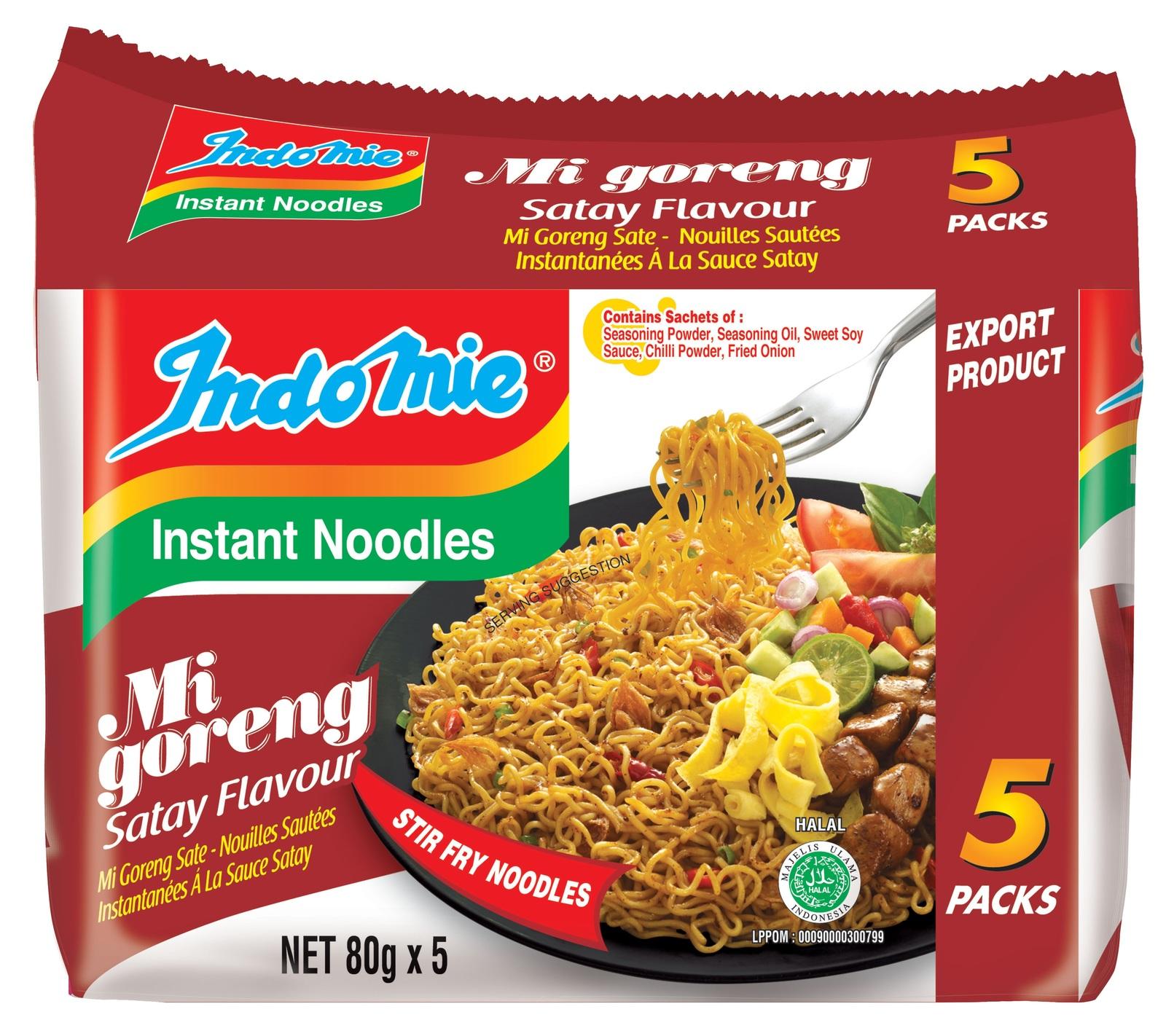 Indomie Satay Noodles 80g 5pk image
