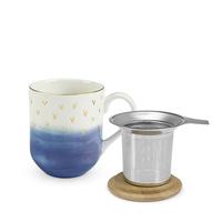 Casey Blue Ceramic Tea Mug & Infuser image