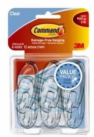 Command Clear Medium Hooks Value Pack (6 Pack)